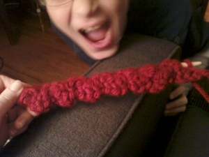 the ribbing is starting to show
